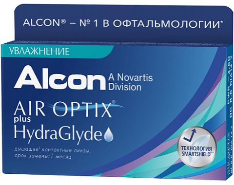 AIR OPTIX plus HYDRAGLYDE 1 линза